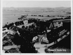 Grunau koło Ostritz, Górne Łużyce - pocztówka z 1938 r.